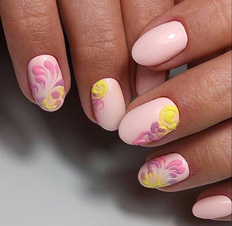 uñas decoradas sutil primavera