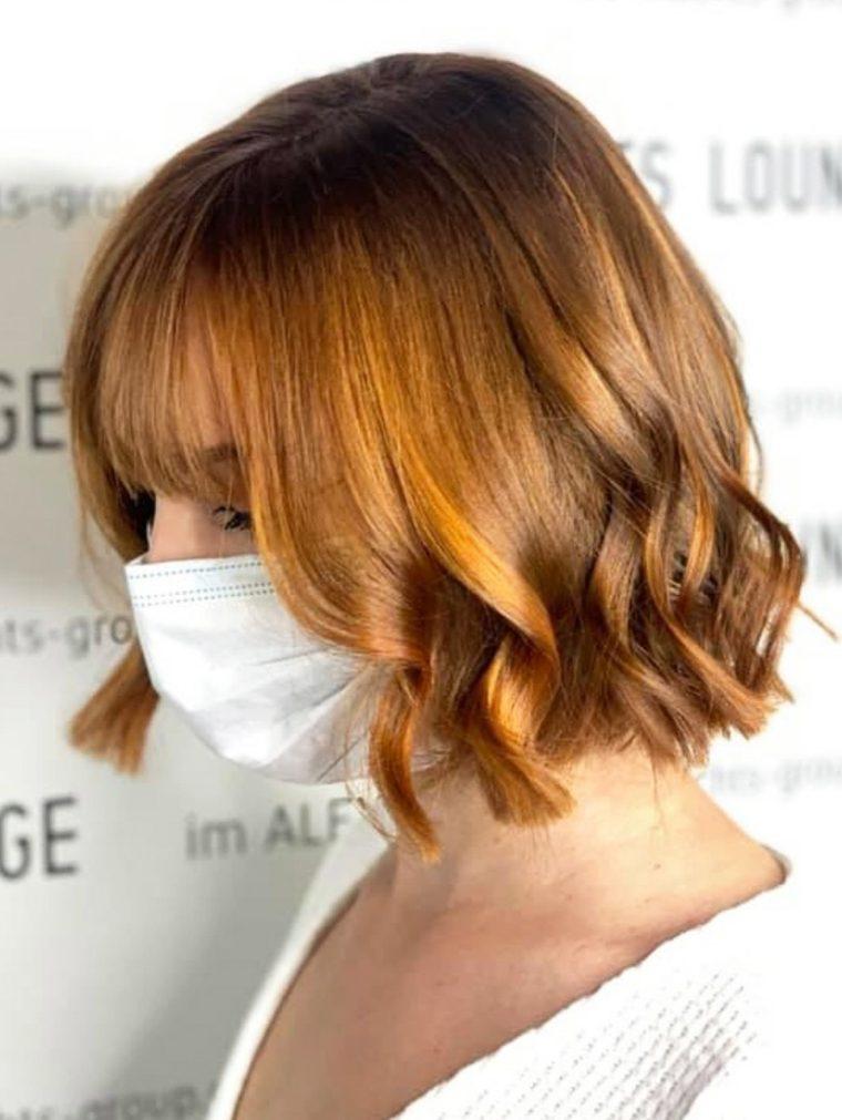 Colores de cabello natural bob-corto