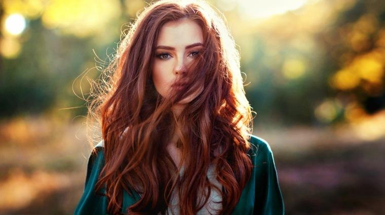 Colores de cabello natural estilo-largo