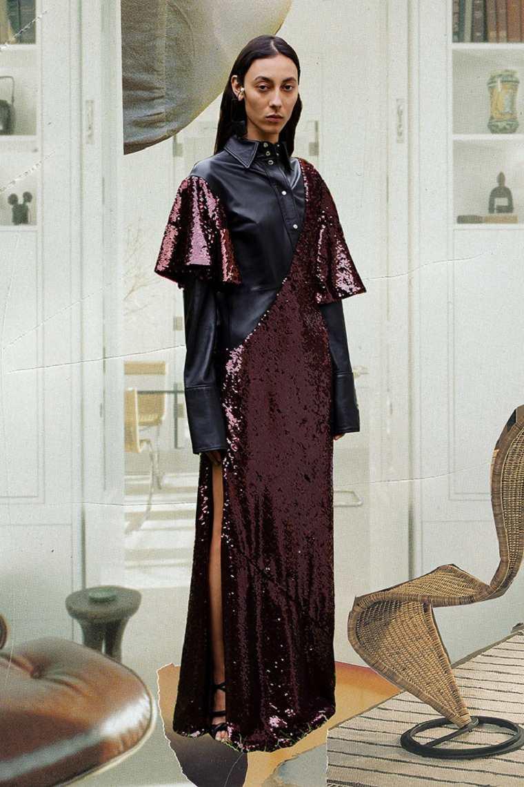 Ellery-combinar-cuero-vestido-ideas
