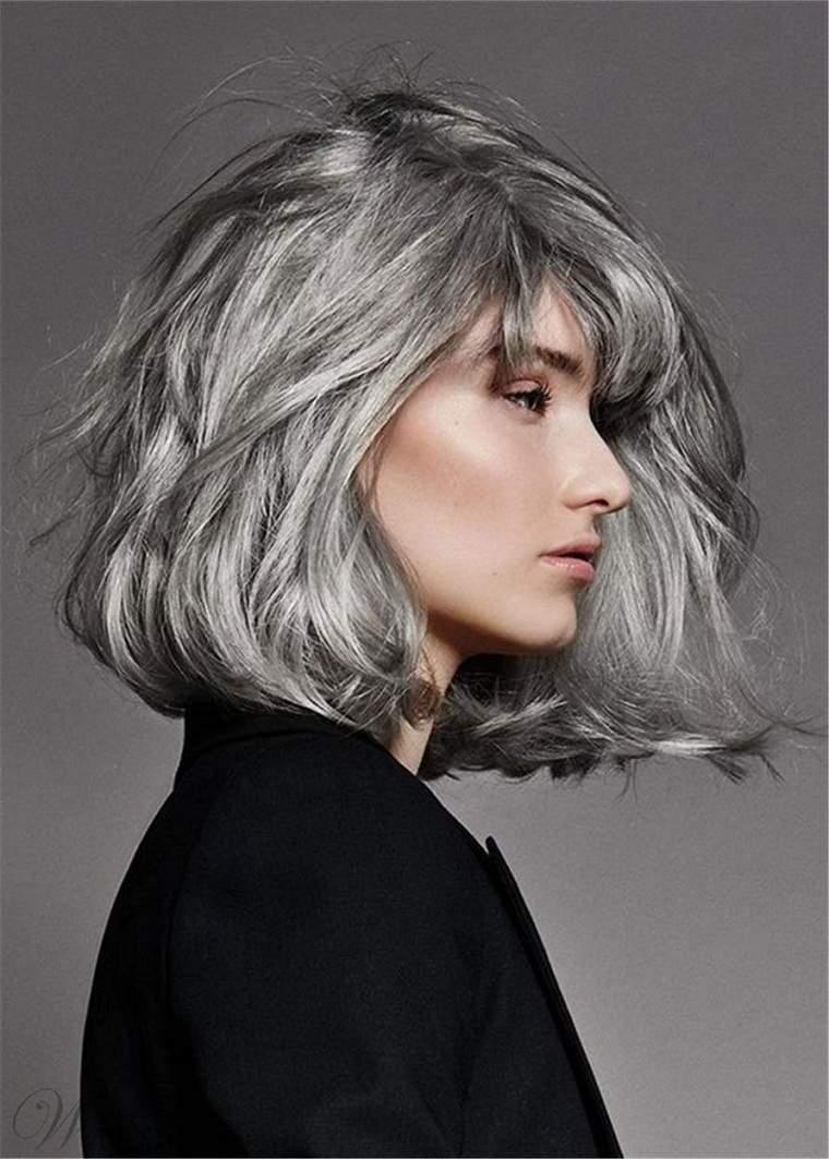 Mechas grises en cabello oscuroconsejos-estilo