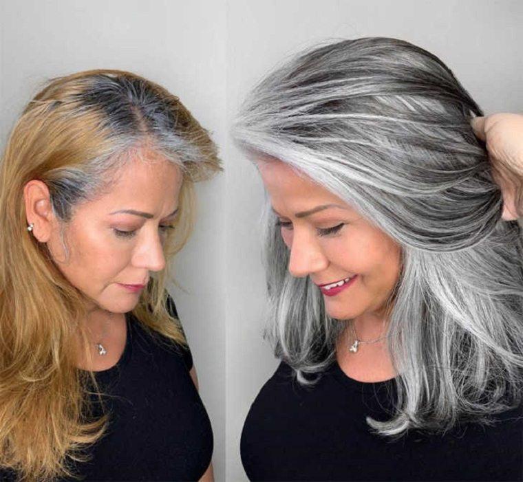 Mechas-grises-en-cabello-oscuro-rubias