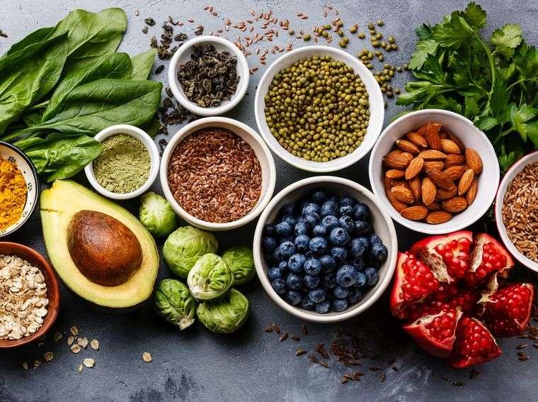 alimentación y nutrición ricos antioxidantes