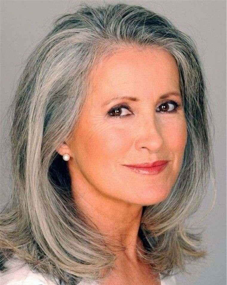 cortes media melena color ceniza mujeres mayores