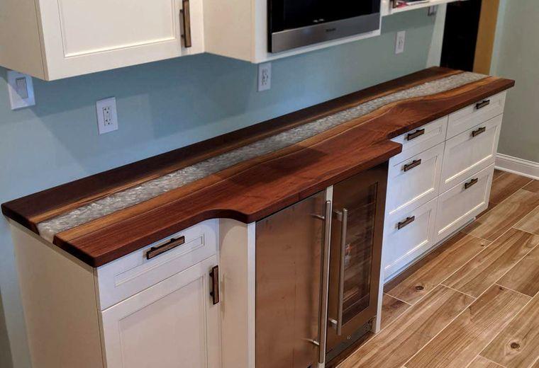encimeras de cocina borde vivo diseño unico