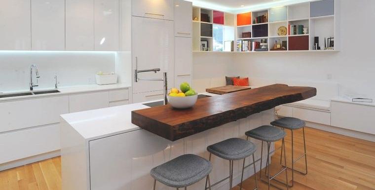 encimeras de cocina minimalista borde vivo