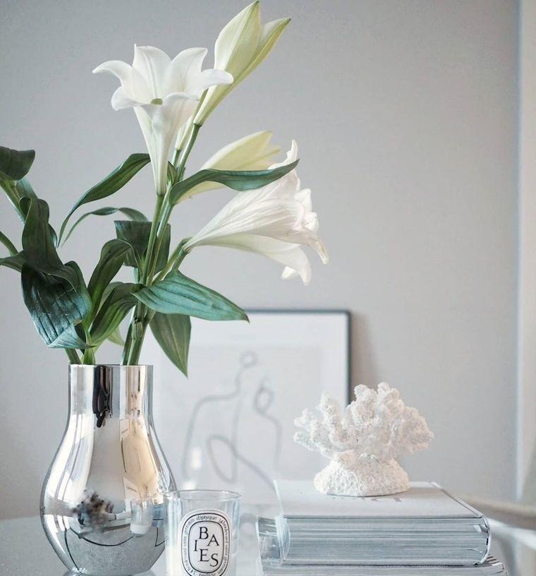 estilo escandinavo con flores primavera
