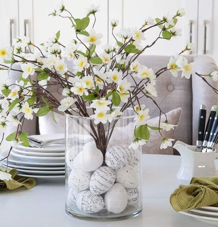 estilo escandinavo con ramas de flores