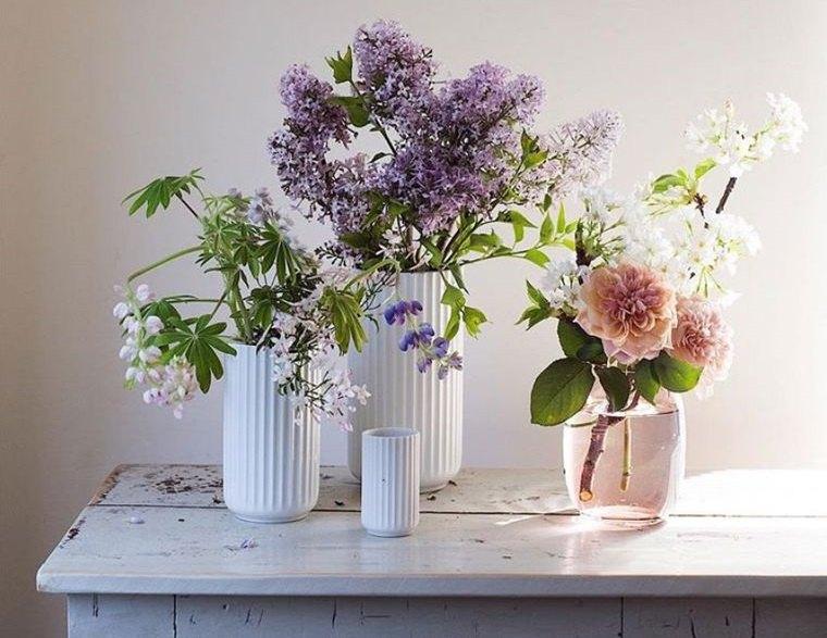 estilo escandinavo decoracion con flores