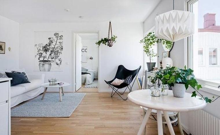 estilo escandinavo decoracion con plantas