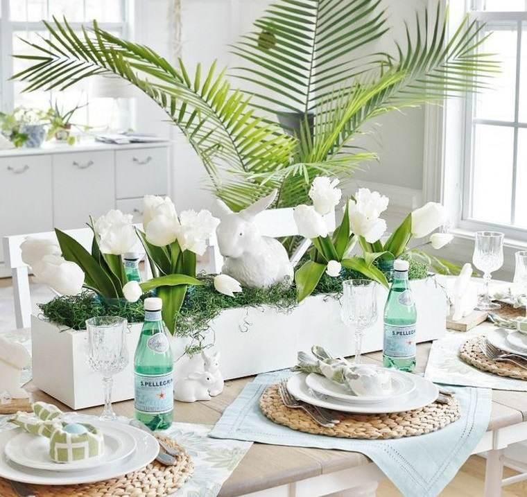 estilo escandinavo decoracion mesa pascua