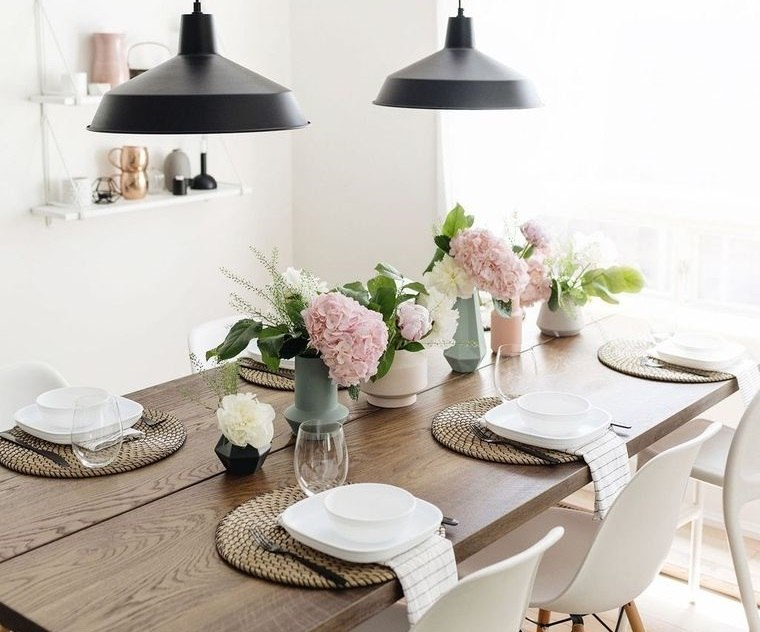 estilo escandinavo decoracion mesa