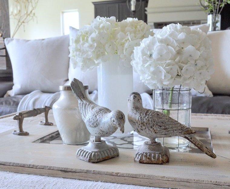 estilo escandinavo flores blancas decoracion