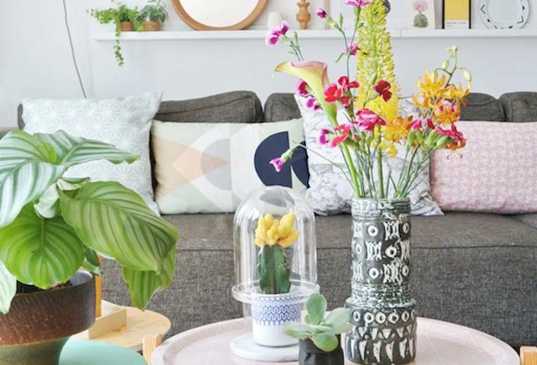 estilo escandinavo flores colores