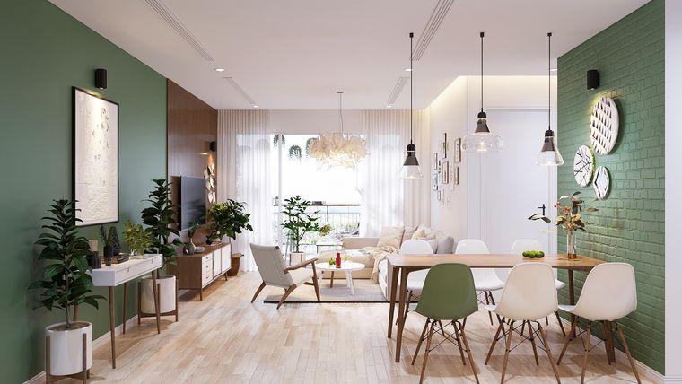 estilo escandinavo paredes verdes