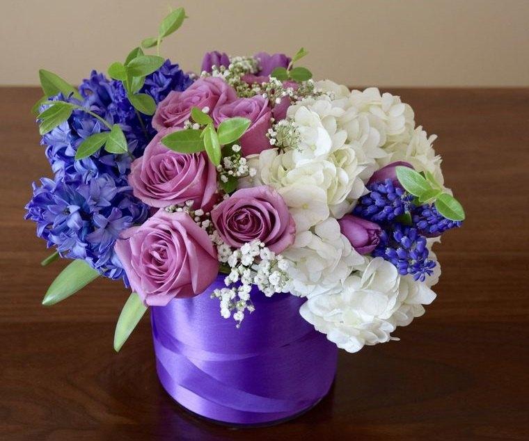 flores de jacinto arreglo para decorar