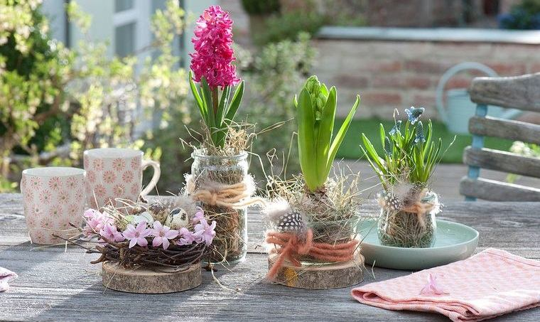 flores de jacinto decorar exterior
