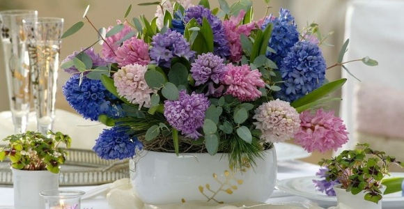 flores de jacinto para decorar