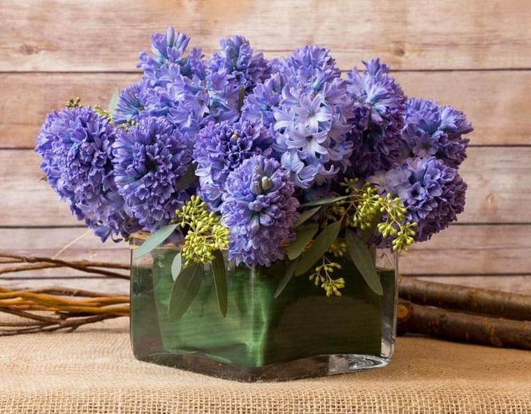 flores de jacinto sencillo arreglo