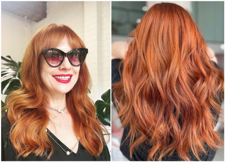 mujeres mayores cabello cobre