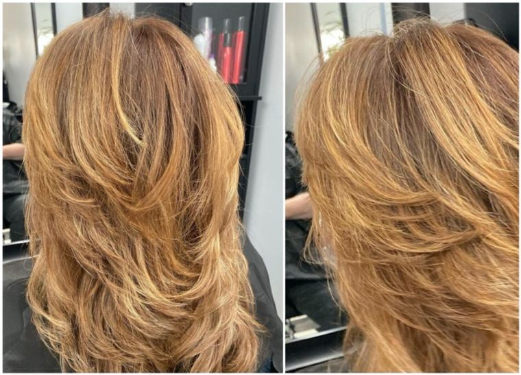 mujeres mayores cabello marron bronce