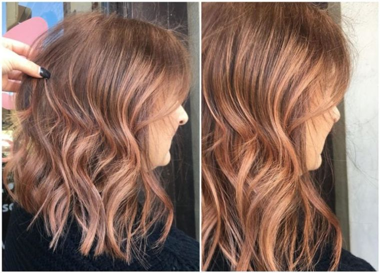 mujeres mayores cabello oro rosa