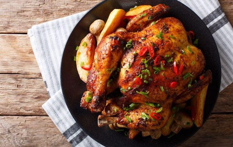 caída del cabello en mujeres alimentacion pollo
