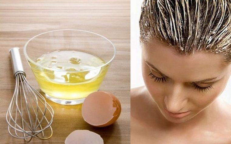 caída del cabello en mujeres mascarilla huevo