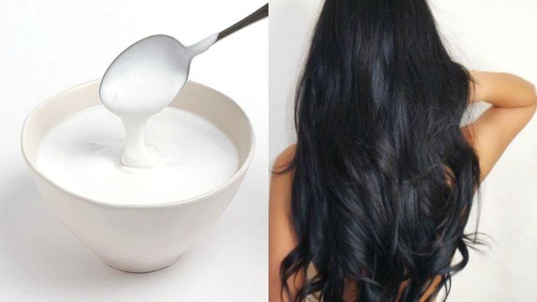 caída del cabello en mujeres mascarilla yogur