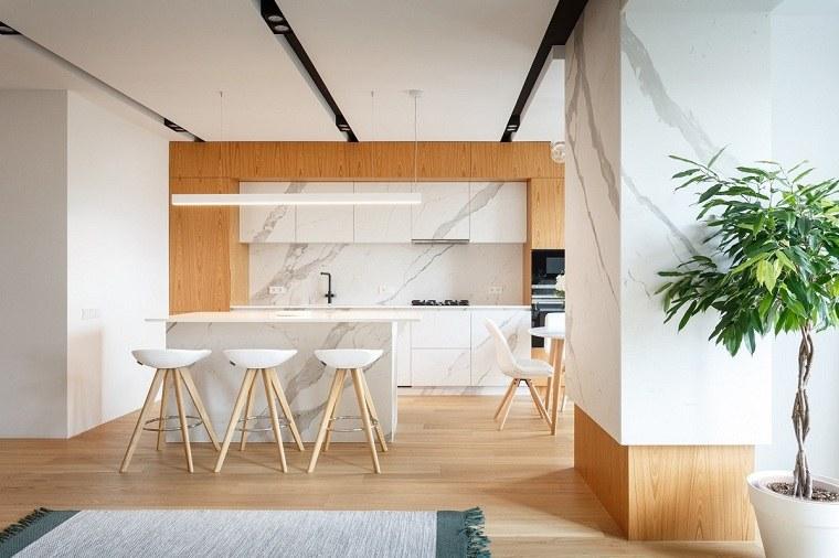 cocina-isla-pequena-marmol-ideas