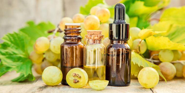 cómo reducir la papada aceite uva