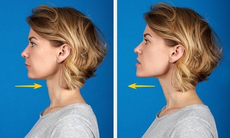 cómo reducir la papada ejercicio mandibula