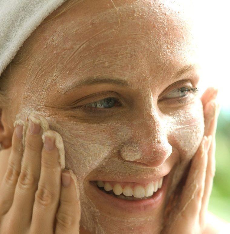 cuidado facial exfoliante