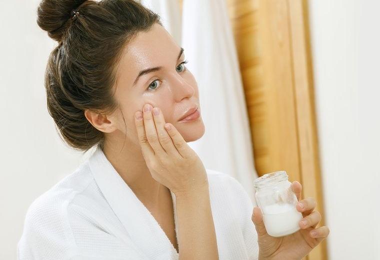 cuidado facial leche de coco