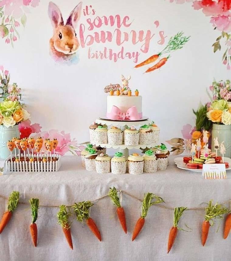 cumpleaños decoracion con conejitos