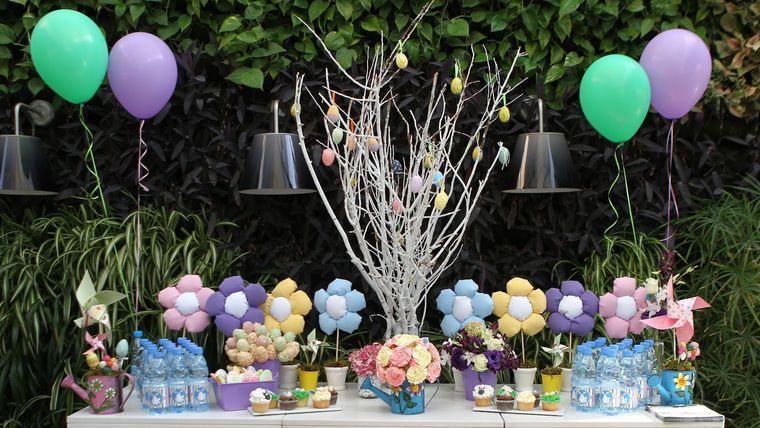 cumpleaños decoracion en jardin