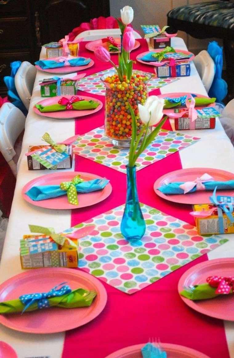 cumpleaños decoracion mesa alegre celebracion