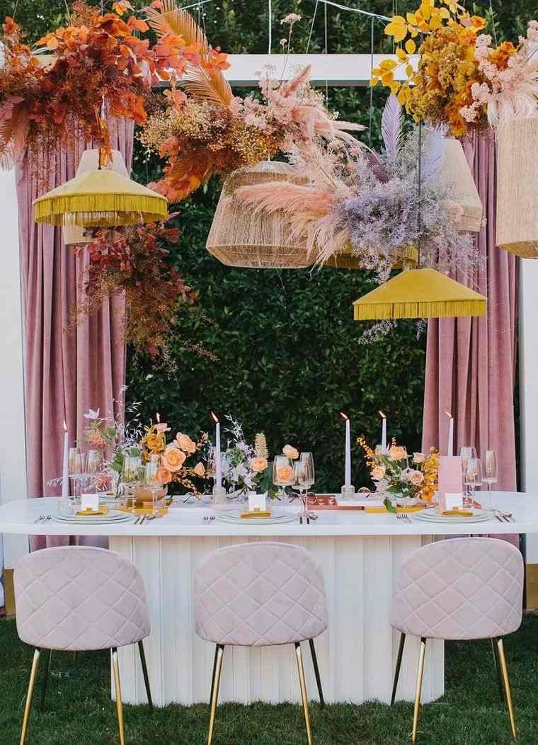 cumpleaños decoracion mesa con velas