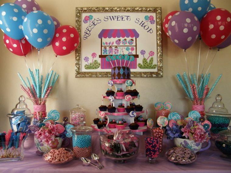 cumpleaños decoracion mesa de dulce