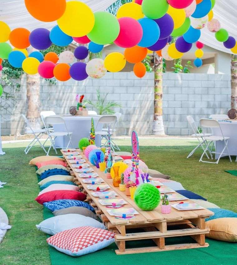 cumpleaños decoracion patio trasero
