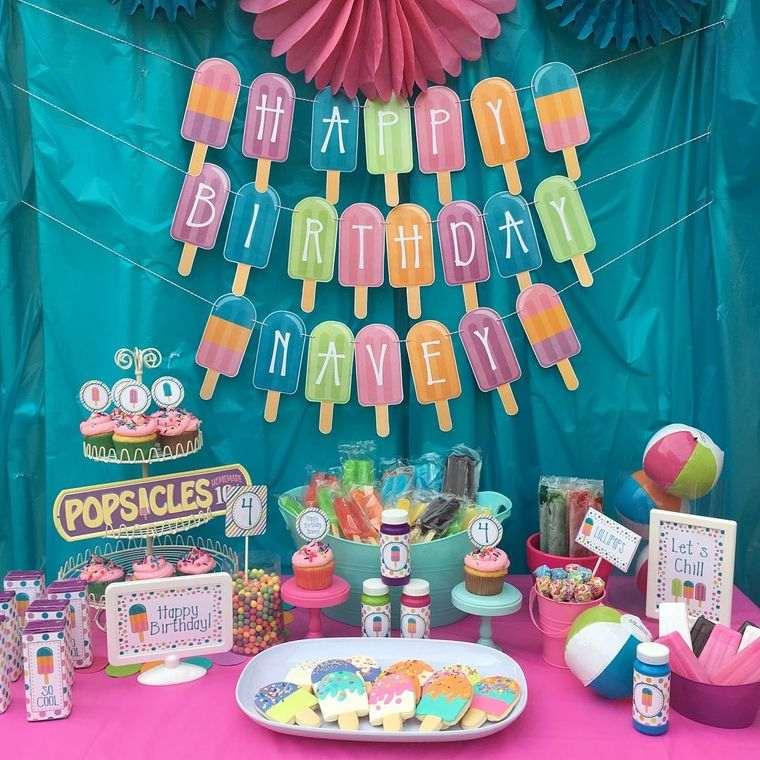 cumpleaños decoracion tematica con paletas