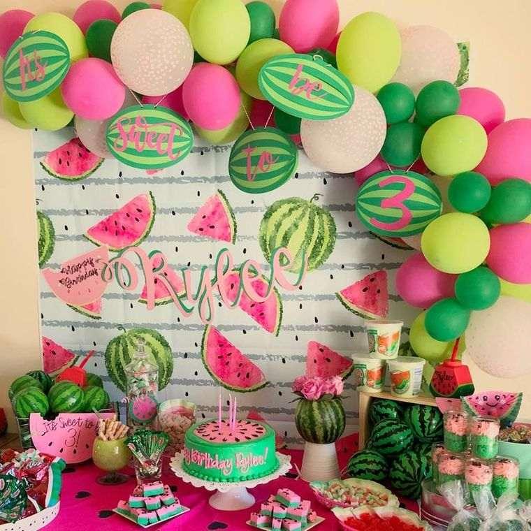 cumpleaños decoracion tematica sandia