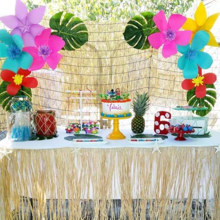cumpleaños decoracion tropical en primavera