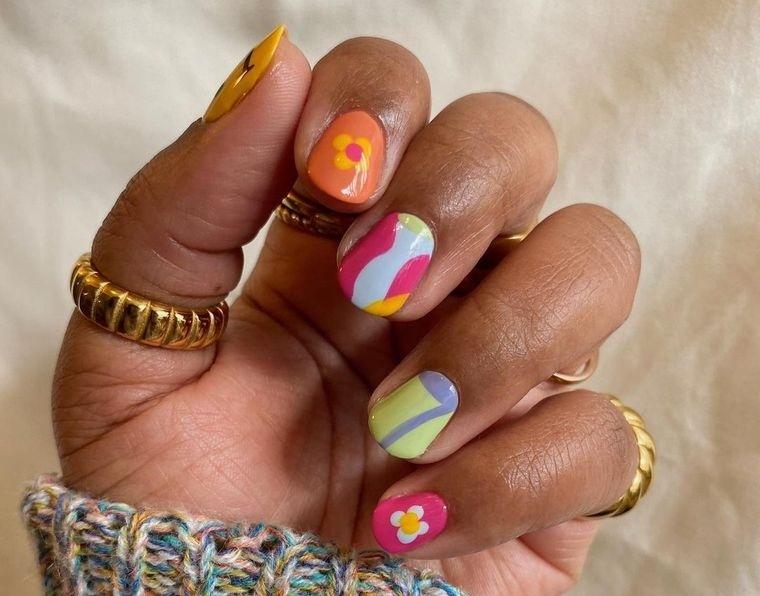 diseño independiente faciles uñas