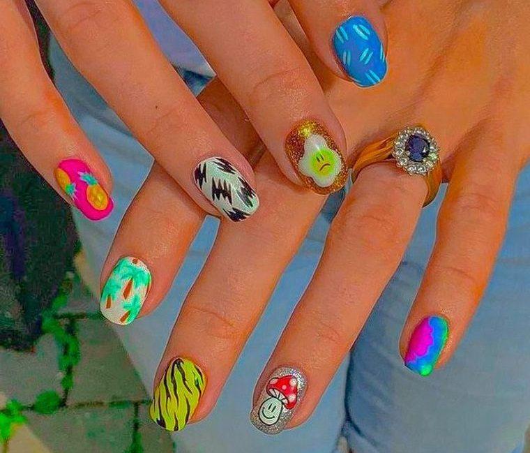 diseño independiente uñas divertidas