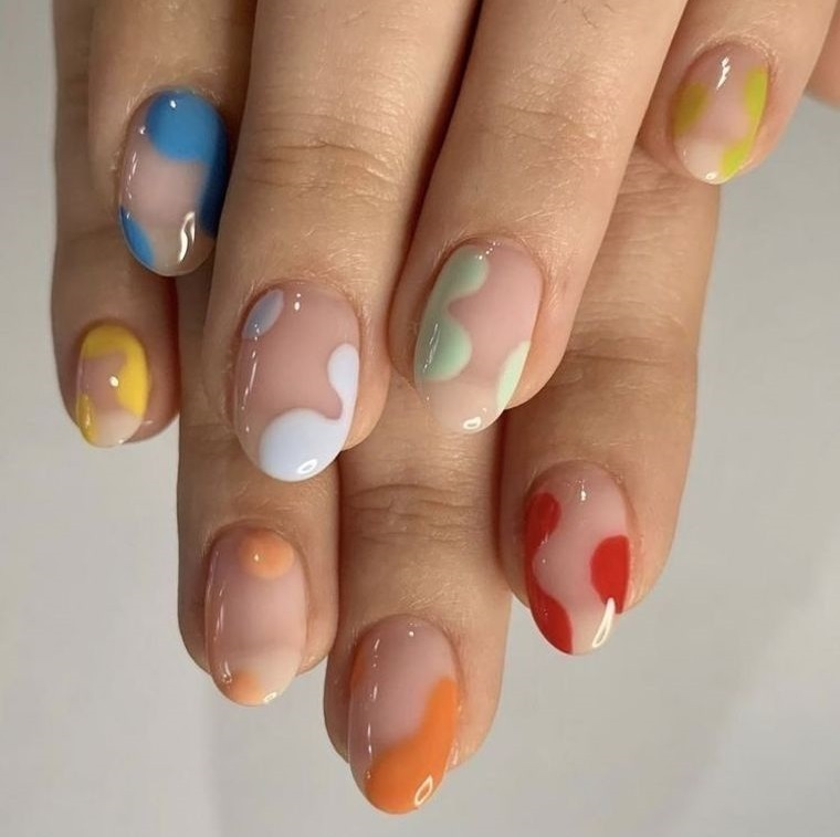 diseño independiente uñas formas diversas