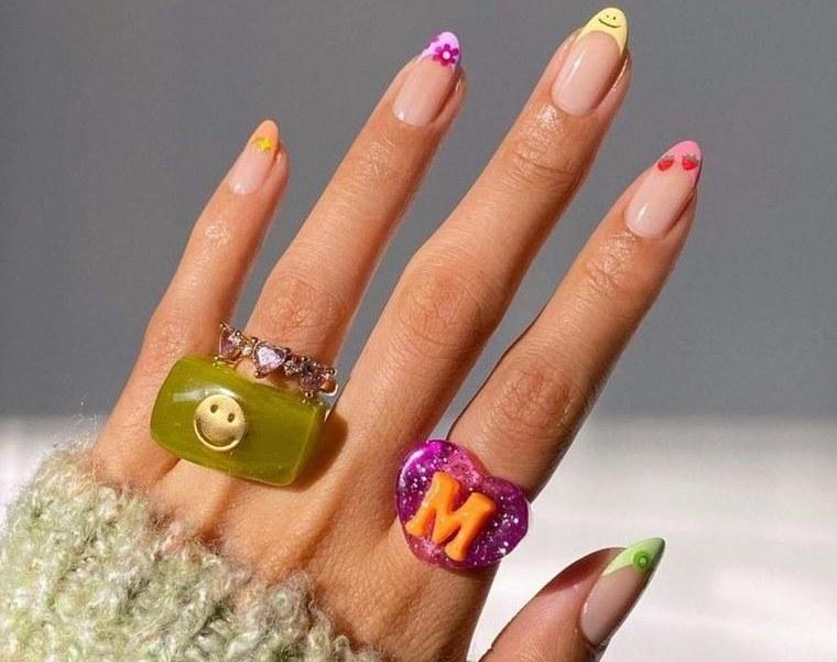 diseño independiente uñas francesas originales