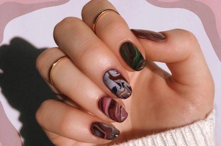 diseño independiente uñas marmol
