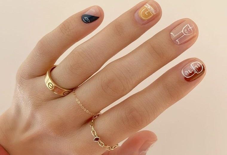 diseño independiente uñas minimalistas