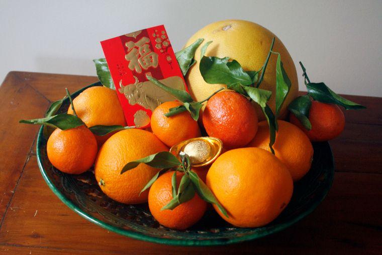 feng shui naranjas en cuenco